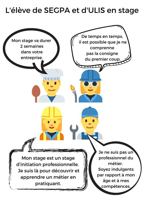 Affiche pour les stages en entreprise