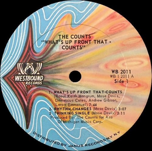 "The Counts : Album "" What's Up Front That-Counts "" Westbound Records WB 2011 [ US ]"