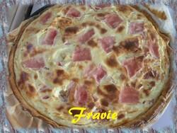 tarte au jambon et boursin