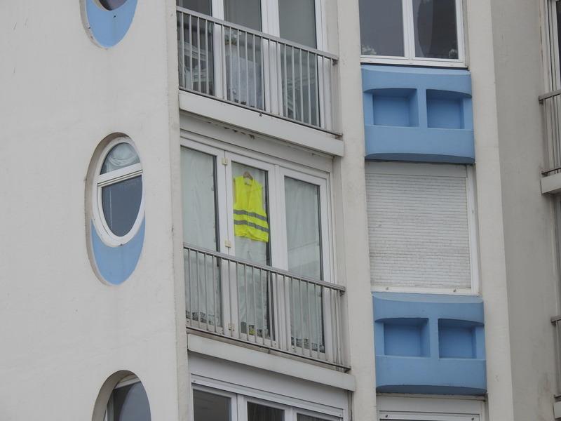 Gilet jaune à Leffrinckoucke