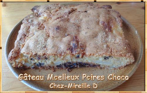 Gâteau Moelleux Poires Choco