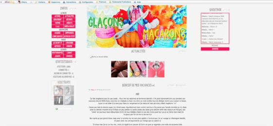 V.1 Glaçons et macarons fushia/gris