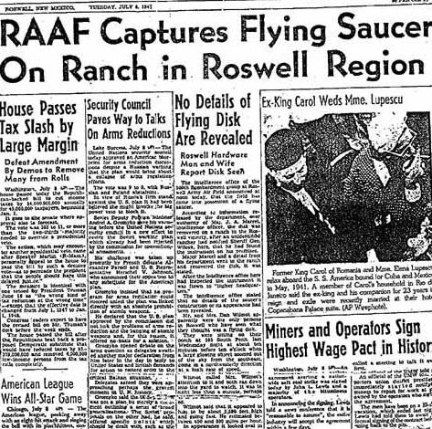 2 Juillet 1947, un engin inconnu s'écrase...