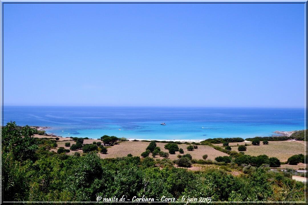 Corbara - Corse - Bleu comme la mer