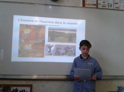 Grégoire présente l'escrime
