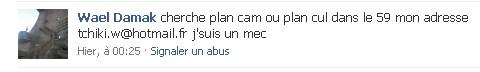 Sexe sur Facebook.