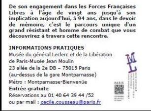 10 Juin 2014 - A la rencontre de Fred Moore au Musée du général Leclerc à Paris