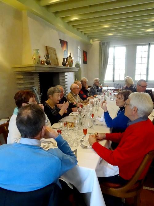 Le repas annuel de la Section-Peinture des amis du Châtillonnais a eu lieu au Restaurant de la Côte d'Or à Châtillon sur Seine