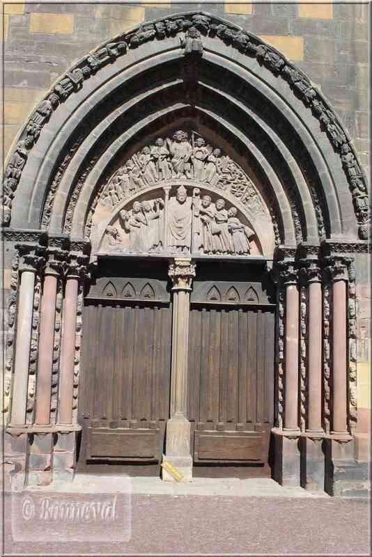 Alsace Haut-Rhin Colmar Collégiale Portail sud Saint-Nicolas