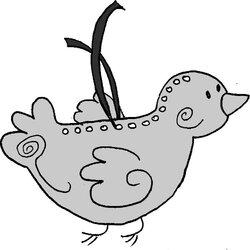 Les oiseaux argentés de Noël