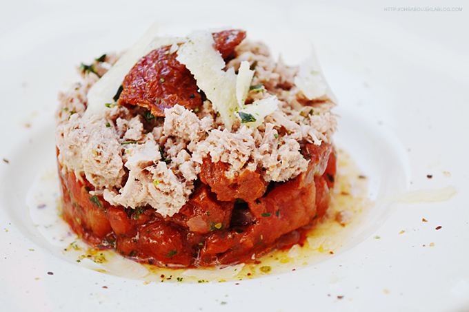 Tartare aux 3 tomates et au thon