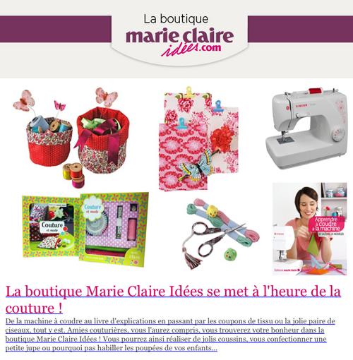 La boutique Marie-Claire Idées se met à l'heure de la couture