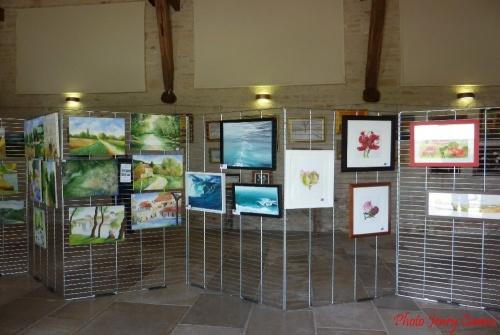 Les peintres de la Section Peinture des Amis du Châtillonnais ont exposé à Jully (Yonne)