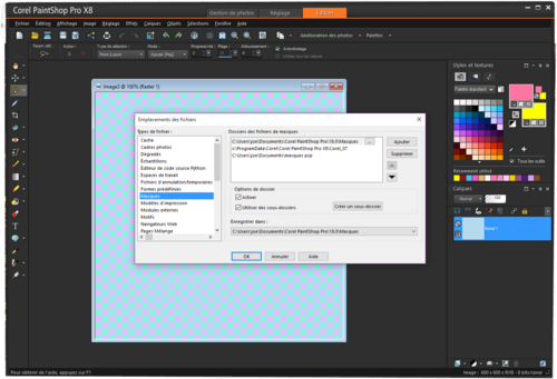 MATERIEL POUR COREL PAINT SHOP PRO (masks)