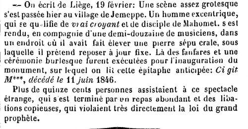 Vrai croyant de Mahomet (La France théâtrale du 29 février 1844)