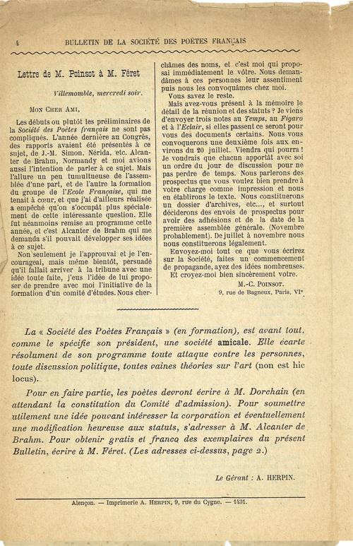 Notre première revue en 1902