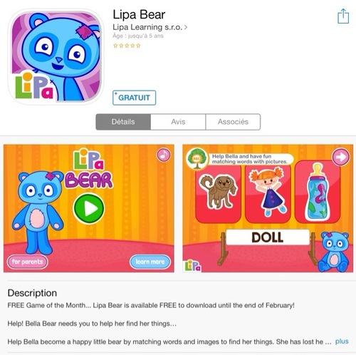 [appli] Lipa Bear