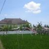 La villa vue de la rizière