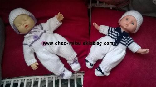 Les bébés sont habillés pour l'hiver