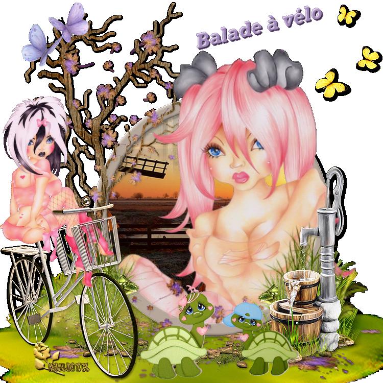 "Défi pour Kikoonette "" Balade à vélo """
