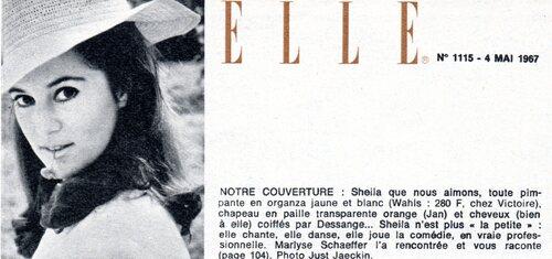 Avril 1967 : Une robe en organza et un chapeau de paille.