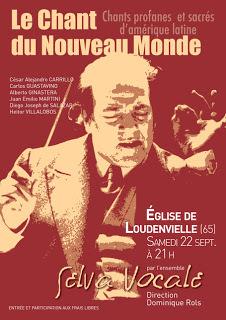 """Concert """"le Chant du Nouveau Monde"""" samedi 22 septembre à 21h à Loudenvielle"""