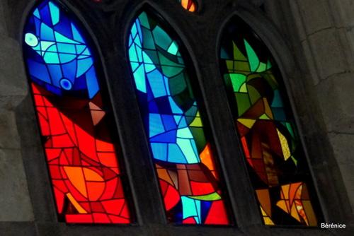 Barcelone :vitraux de la Sagrada familia (Bérénice)