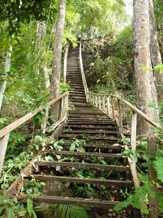 Escalier raide