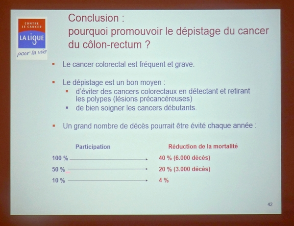 "Le ""Côlon Tour"" de la Ligue contre le cancer de passage à Châtillon sur Seine..."