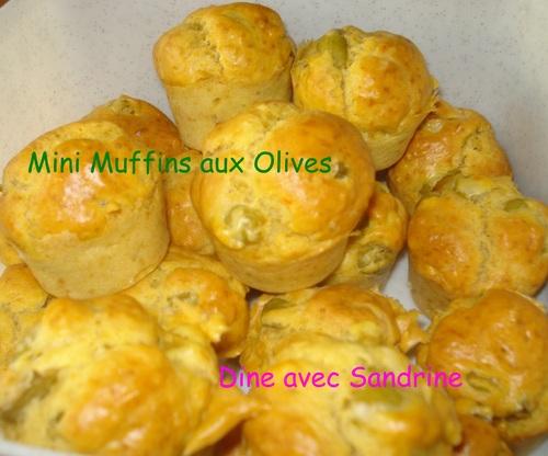 Des Mini Muffins aux Olives