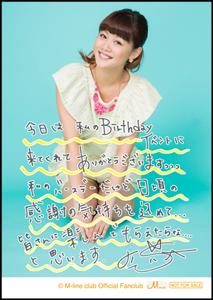 Niigaki Risa Birthday Event~25th Birthday Party! Chotto Hayai kedo!~