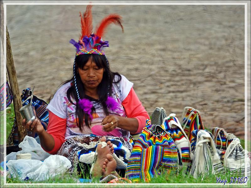 Femme Guarani : ultime photo de ce voyage débuté à Buenos Aires (Argentine) et terminé ici, à Iguaçu (Brésil), via Ushuaïa (Ar), Cape Horn Island (Chili) Puerto Natales (Ch), El Calafate (Ar)