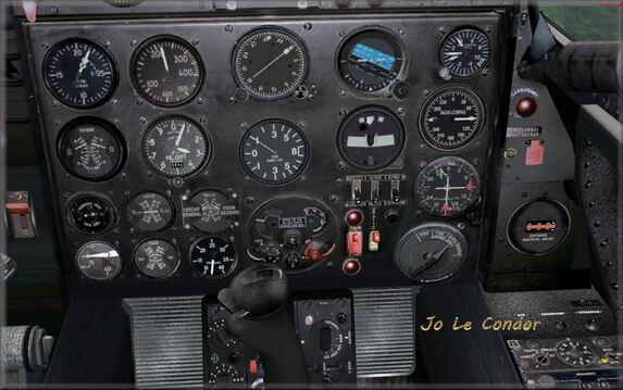 Le tableau de bord du même avion , fonctionnel l'avion étant en évolution.