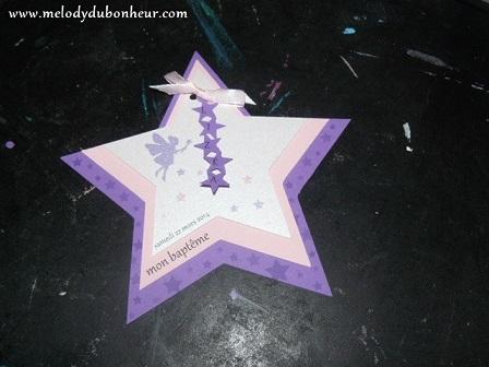 Faire part forme étoile