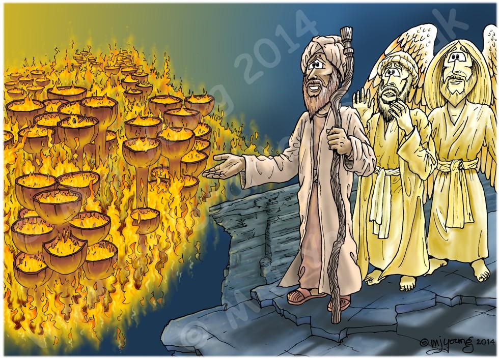 Luke 16 - Rich man and Lazarus - Scene 05 - Great chasm (Colour version)