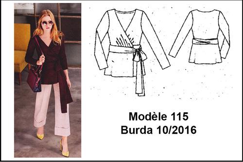 Top cache-coeur Modèle 115 Burda 10/2016