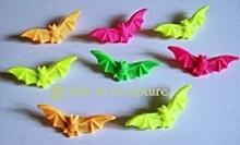 broche chauve souris fluo-phosphorescentes - Arts et Sculpture: sculpteur, artisan d'art