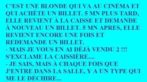 Blague : la blonde au cinéma