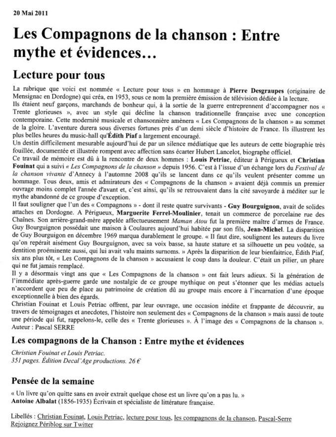 Article Pascal Serre