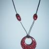 collier rouge fimo VENDU