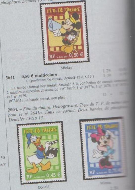 Héros de dessins animés en timbre