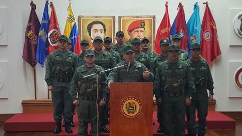 VENEZUELA : Un communiqué des Forces Armées Nationales Bolivariennes