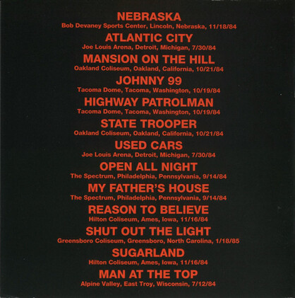 Le Choix des Lecteurs # 187 : Bruce Springsteen - Nebraska Live (1995)