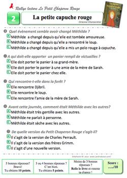 Rallye Petit Chaperon CM par Stéphanie