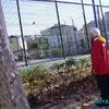 Lisbonne - Pat et le match de foot devant les arênes de Lisbonne