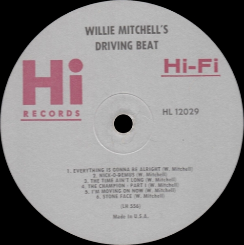 "1966 : Willie Mitchell : Album "" Willie Mitchell's Driving Beat "" Hi Records SHL 32029 [ US ]"