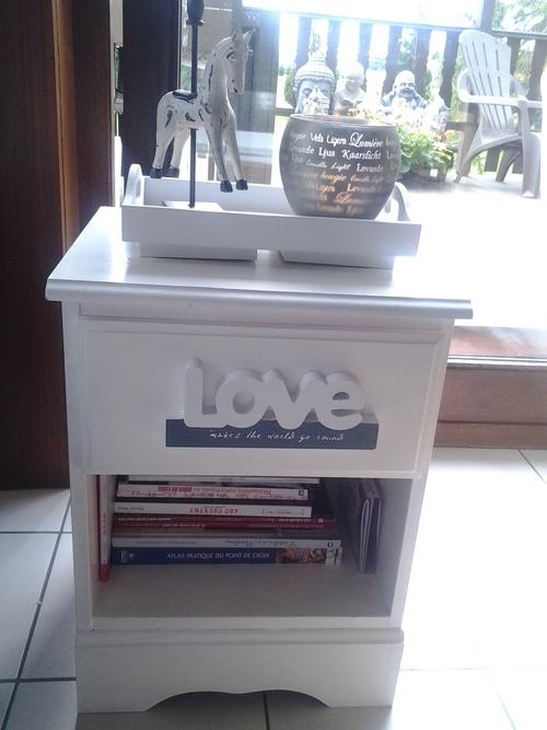 Restauration de petit meuble.