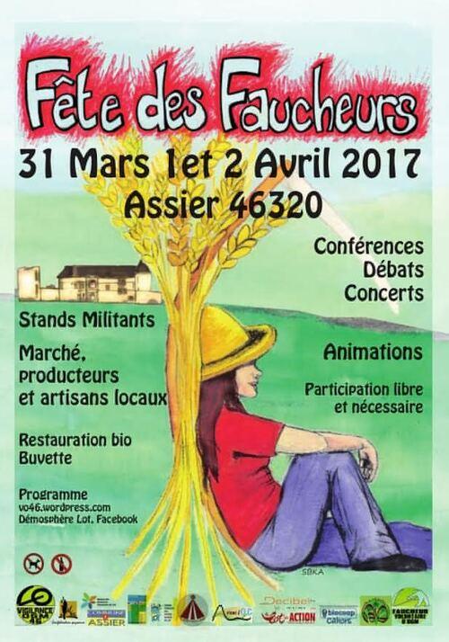 31 Mars 01 02 Avril 2017 Fête des FAUCHEURS à ASSIER 46320