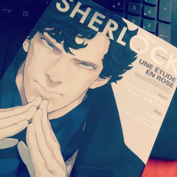 Sherlock manga une étude en rose