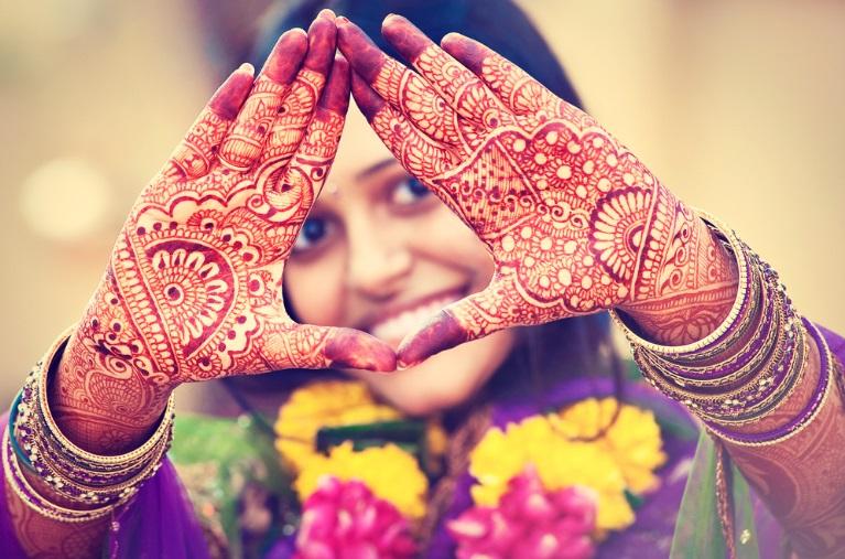 Motif Gambar Henna Tangan Kaki Pengantin Simple A1213